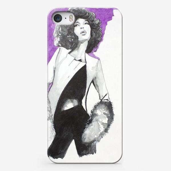 Чехол iPhone «фиолетовая девушка»