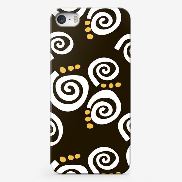 Чехол iPhone «Spirals Black»