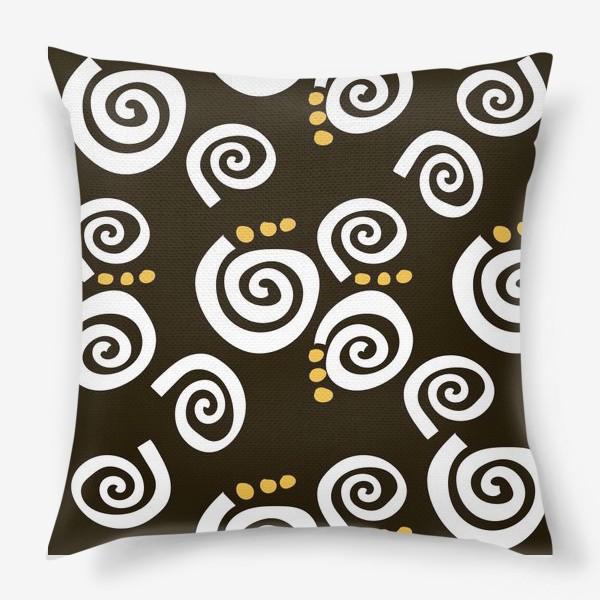 Подушка «Spirals Black»