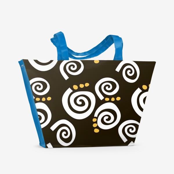 Пляжная сумка «Spirals Black»