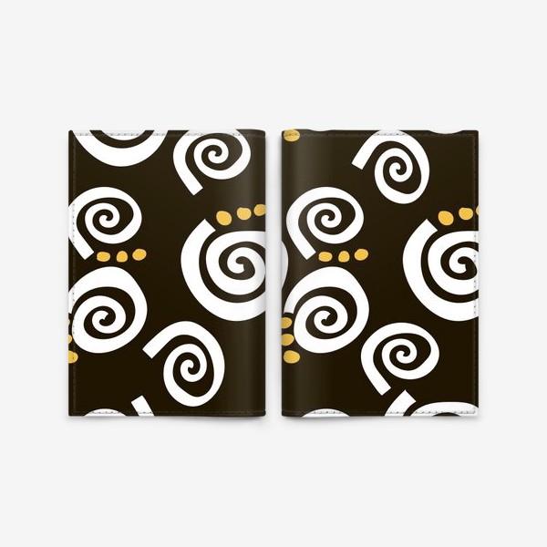 Обложка для паспорта «Spirals Black»