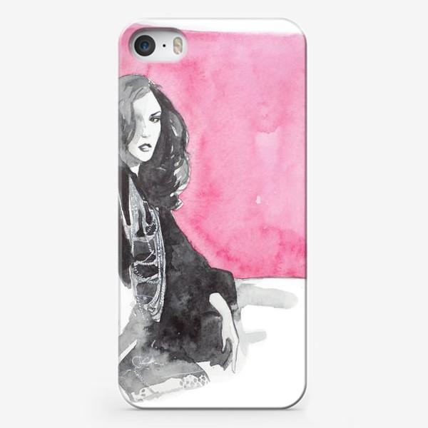 Чехол iPhone «Розовая девушка»