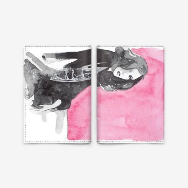 Обложка для паспорта «Розовая девушка»