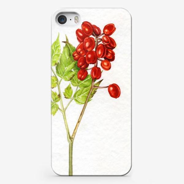 Чехол iPhone «Красные ягоды»