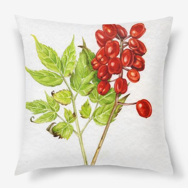 Подушка «Красные ягоды»