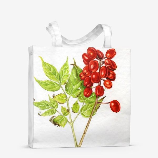 Сумка-шоппер «Красные ягоды»