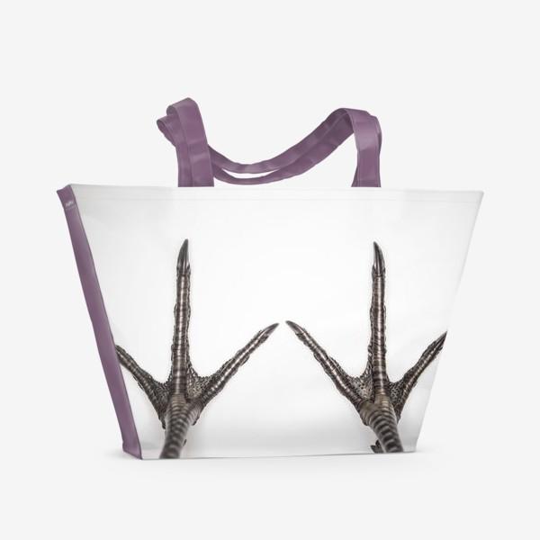 Пляжная сумка «Птичьи лапки»