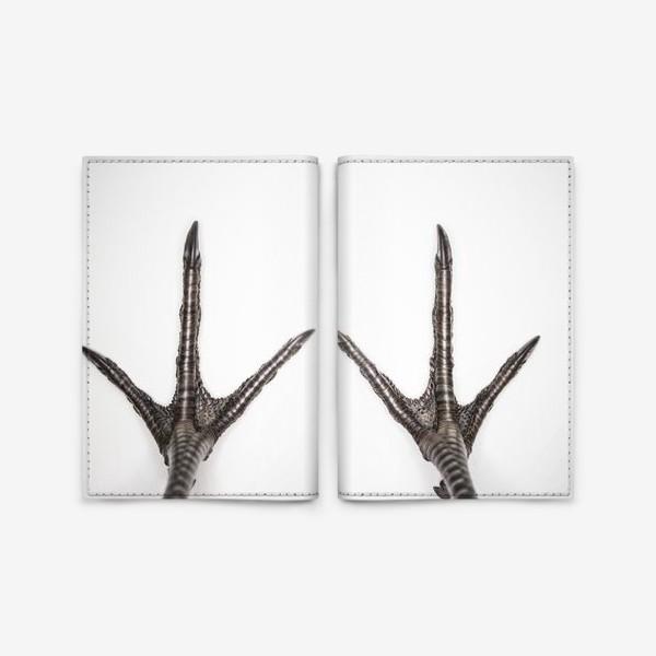 Обложка для паспорта «Птичьи лапки»