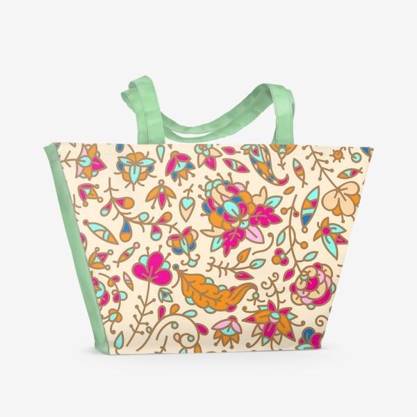 Пляжная сумка «Нежные цветы»