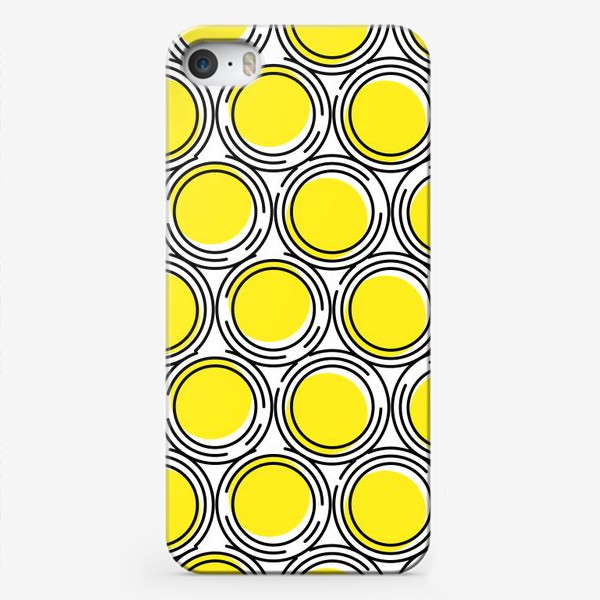 Чехол iPhone «Геометрический узор желтые круги»