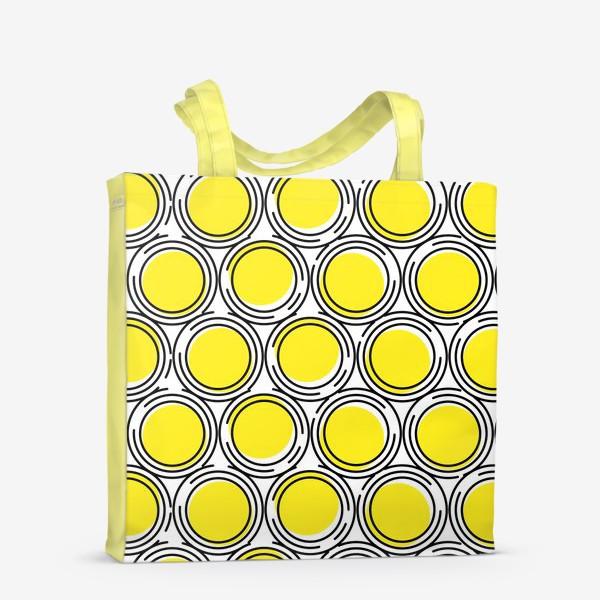 Сумка-шоппер «Геометрический узор желтые круги»