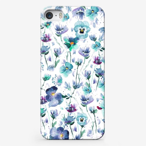 Чехол iPhone «Mint pansy»