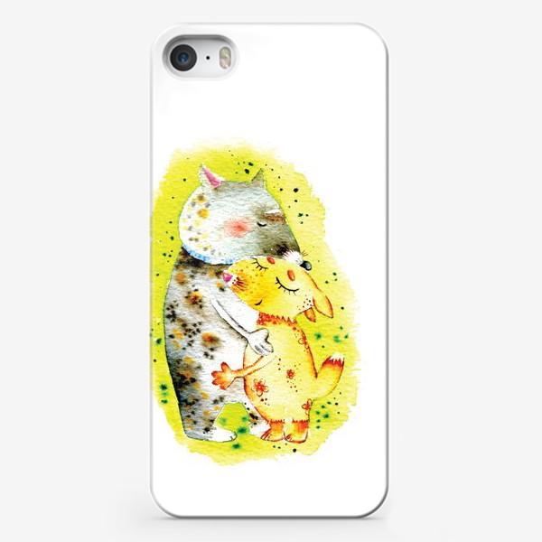 Чехол iPhone «Волк и лисичка»