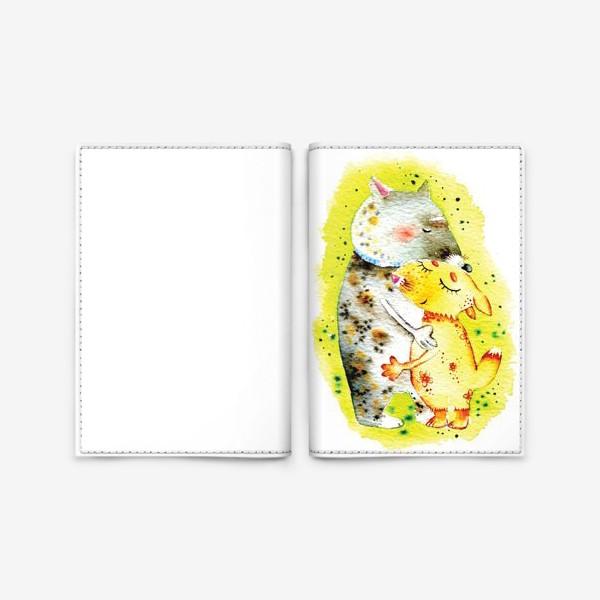 Обложка для паспорта «Волк и лисичка»