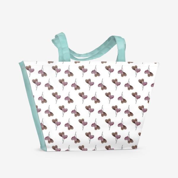 Пляжная сумка «Леденцы-паттерн»
