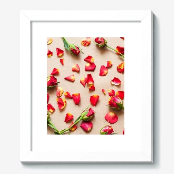 Картина «Розы и лепестки»