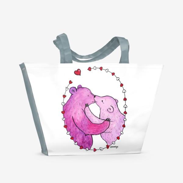 Пляжная сумка «Поцелуй»