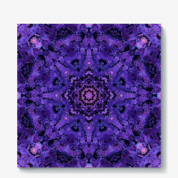 Холст «Purple Mandala 2»