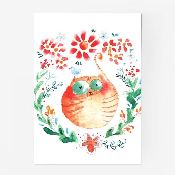 Постер «Рыжий кот»