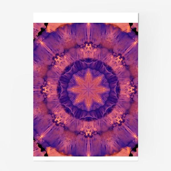 Постер «Purple Mandala 3»