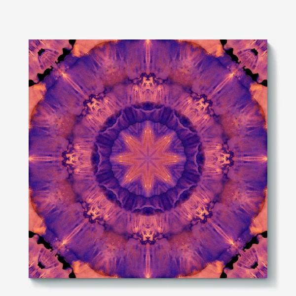 Холст «Purple Mandala 3»