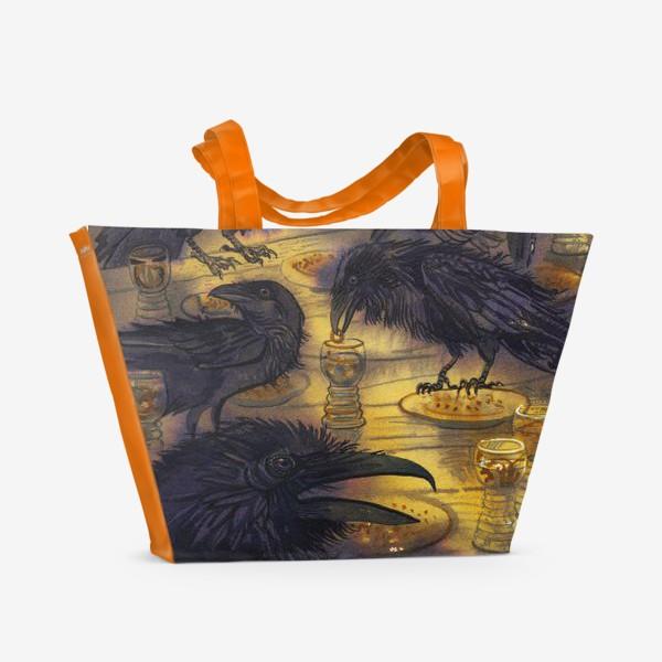 Пляжная сумка «Семь воронов.»