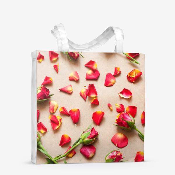 Сумка-шоппер «Розы и лепестки»