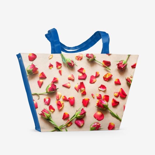 Пляжная сумка «Розы и лепестки»