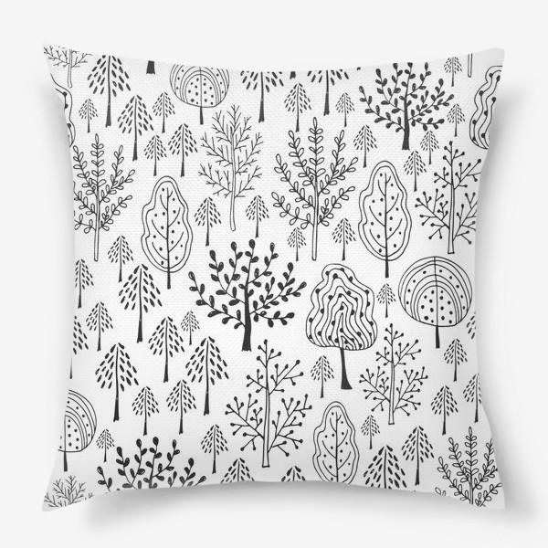 Подушка «Деревья сказочного леса»