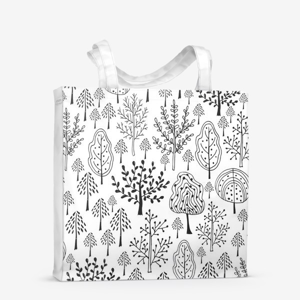 Сумка-шоппер «Деревья сказочного леса»
