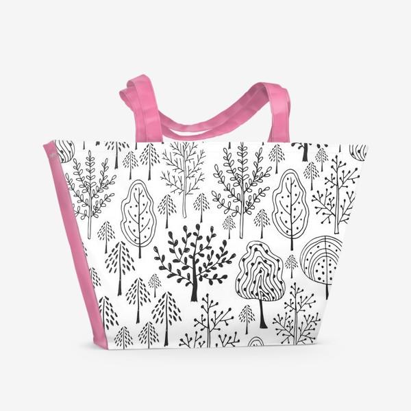 Пляжная сумка «Деревья сказочного леса»