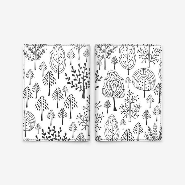 Обложка для паспорта «Деревья сказочного леса»