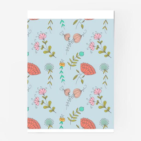 Постер «Пастельные цветы»