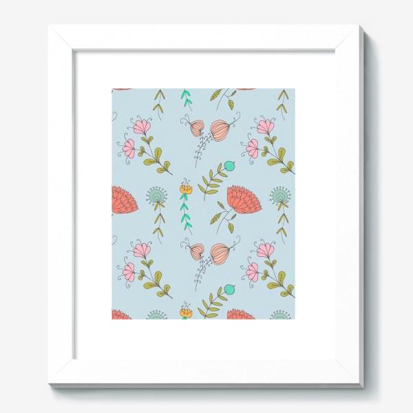 Картина «Пастельные цветы»