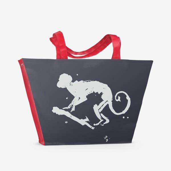 Пляжная сумка «обезьяна на ветке»