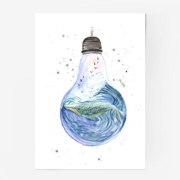 Постер «Море в лампочке. Кит»