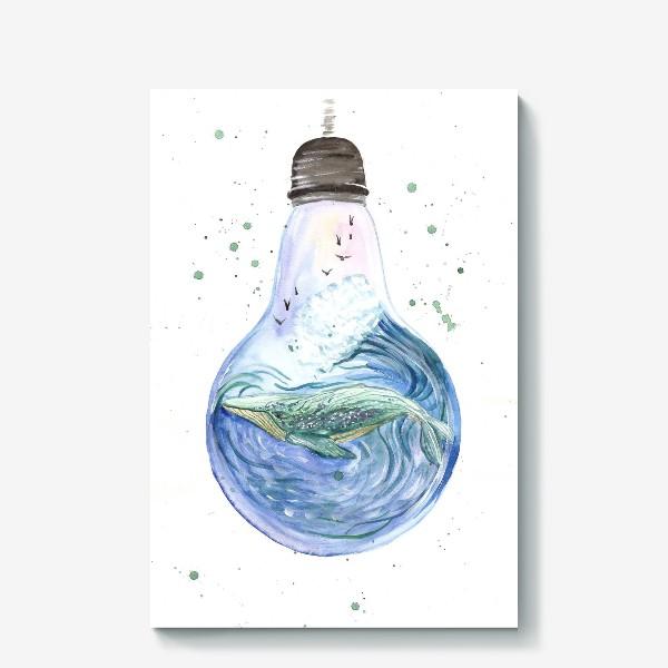 Холст «Море в лампочке. Кит»