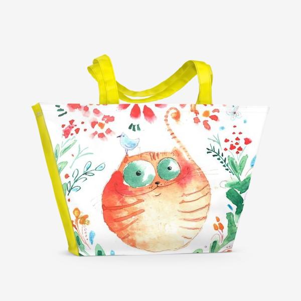 Пляжная сумка «Рыжий кот»