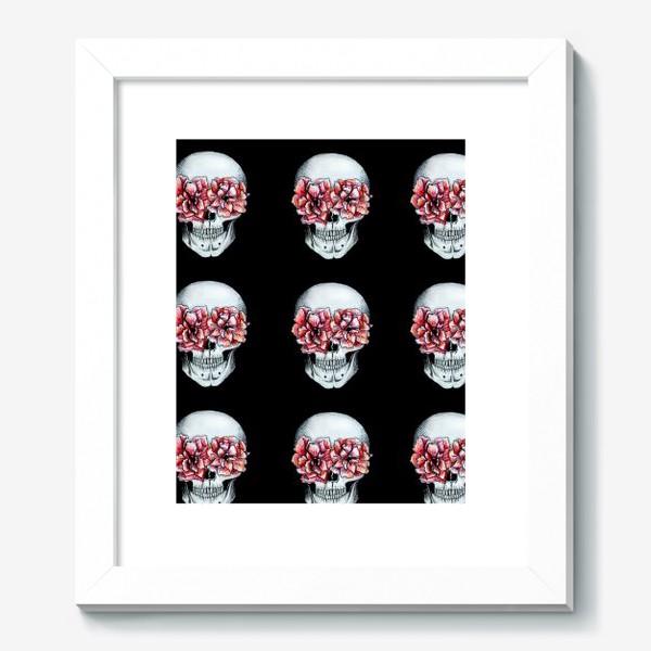Картина «Паттерн: череп в цветах»
