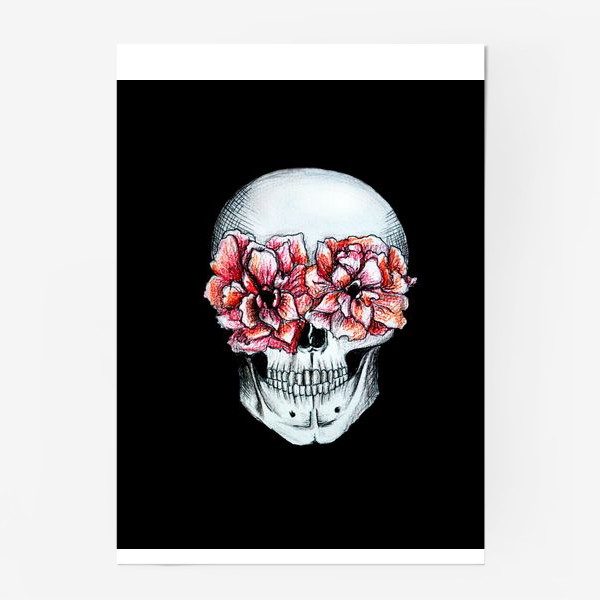 Постер «Череп в цветах»