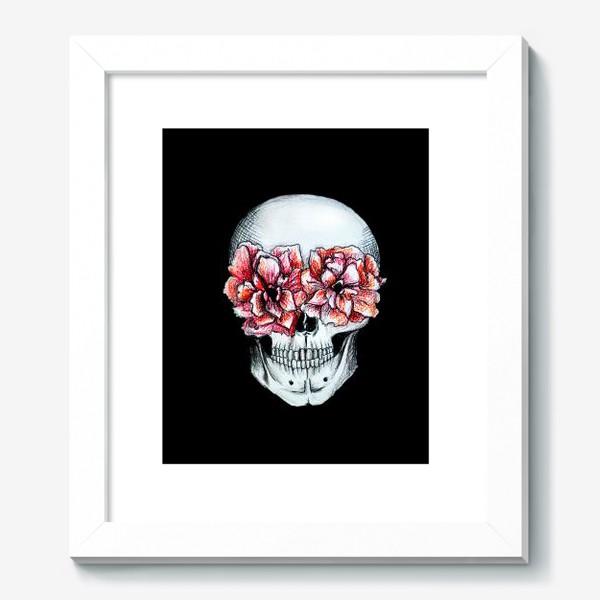 Картина «Череп в цветах»