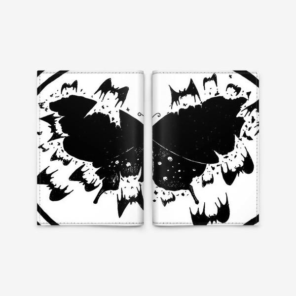 Обложка для паспорта «Черная бабочка»