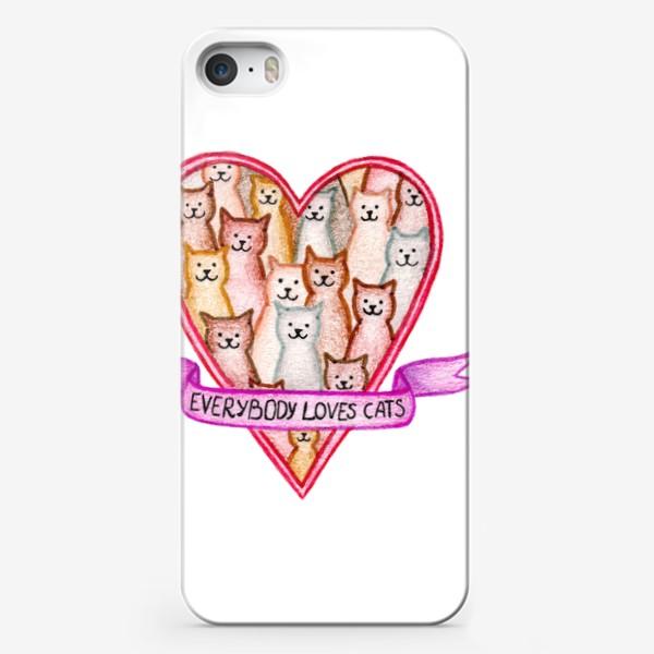Чехол iPhone «Все любят котиков»