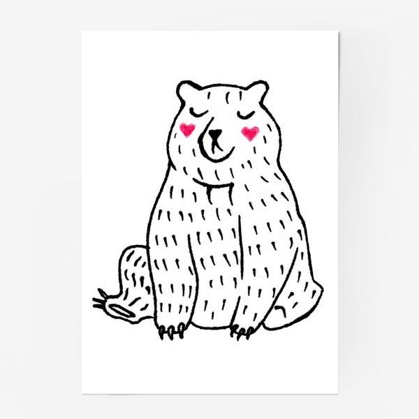 Постер «Скромный мишка»