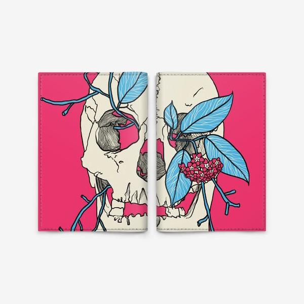 Обложка для паспорта «Skull»
