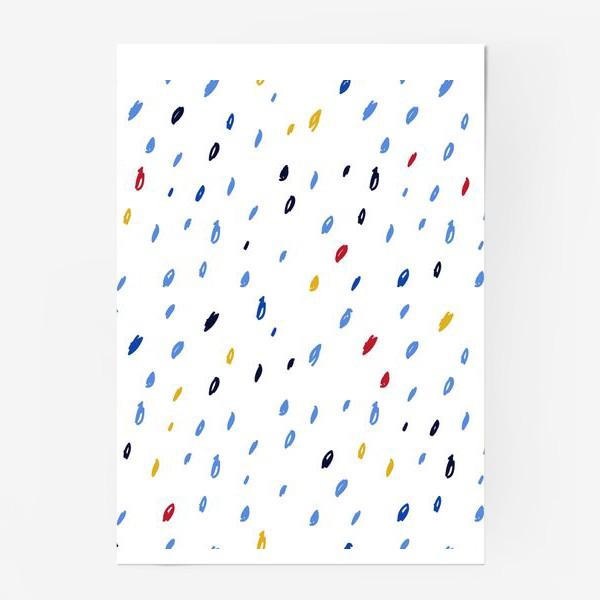 Постер «Абстрактный паттерн со штрихами»