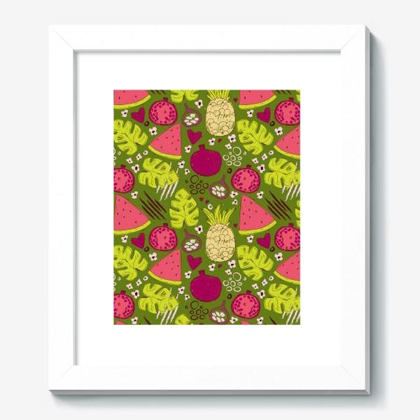 Картина «Паттерн с тропическими фруктами»