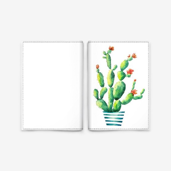 Обложка для паспорта «Кактус»