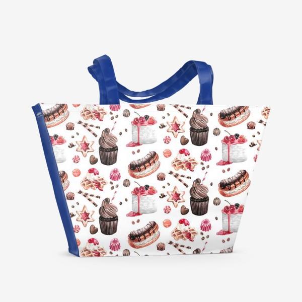 Пляжная сумка «Сладости2»