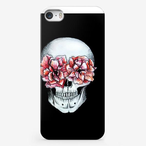 Чехол iPhone «Череп в цветах»